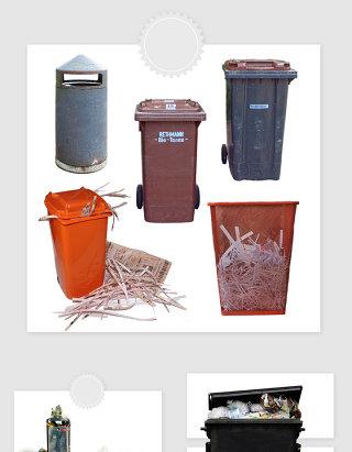 高清免抠垃圾箱垃圾桶素材