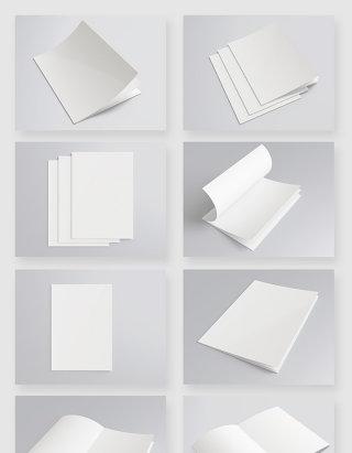 空白书籍画册纸张设计贴图样机模版素材