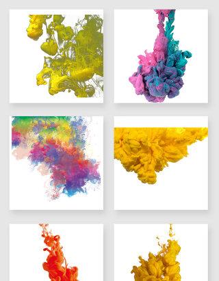 彩色烟雾png设计元素