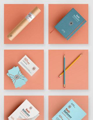 品牌办公用品VI设计贴图样机素材