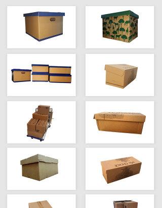 高清免抠包装纸箱素材