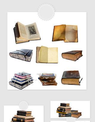 高清免抠欧美复古书籍