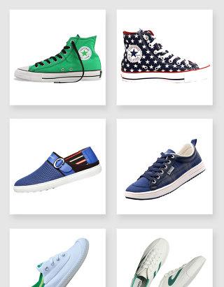 产品实物帆布鞋设计素材