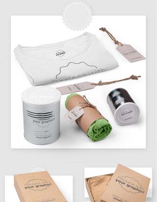 服装品牌包装设计贴图样机素材