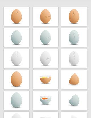 矢量高清鸡蛋鸭蛋素材