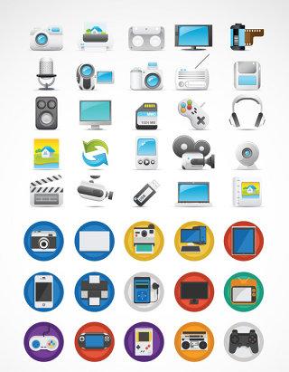 电子产品矢量图标素材