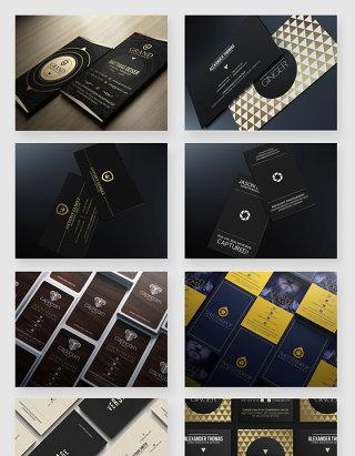 商务大气名片排版设计PSD素材