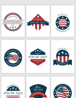 创意美国文化图标素材