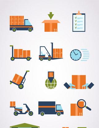 矢量物流运输素材