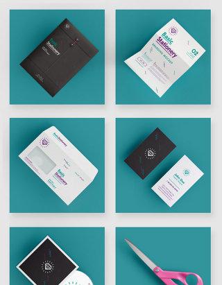 品牌VI设计办公用品智能贴图样机素材
