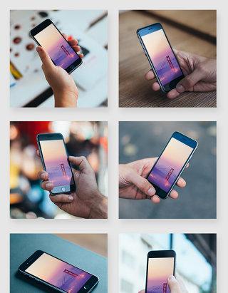 多角度多场景苹果智能手机模型贴图样机