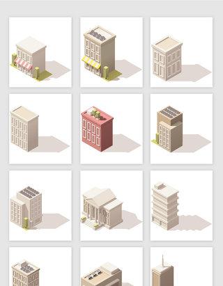 3D地标建筑矢量素材