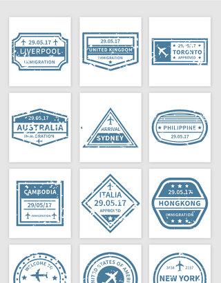 造旧热卖标贴信息框矢量素材