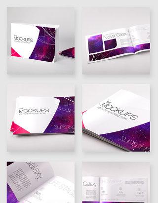 企业文化宣传画册设计样机模板素材