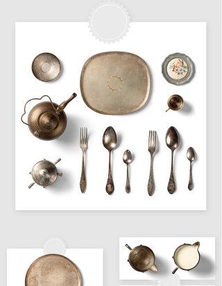 厨房铜材质用具高清PSD素材