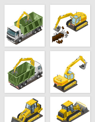 各种工程机器素材合集