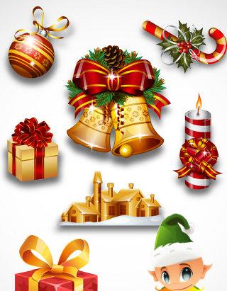 圣诞节素材矢量图格式独立单个分层