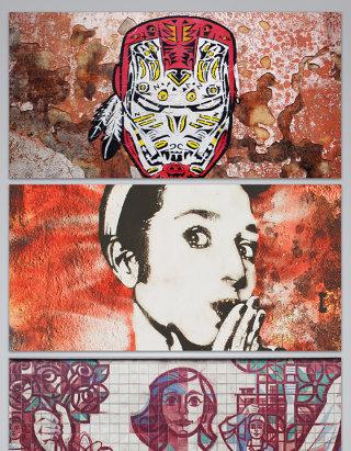 墙画各种各样艺术