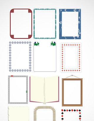 简洁文本框相框矢量素材
