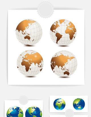 矢量地球设计素材