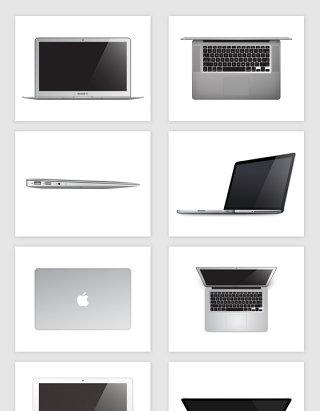 矢量苹果笔记本电脑