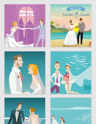 情人节爱情的卡通人物矢量素材