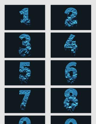 矢量创意抽象几何碎片数字
