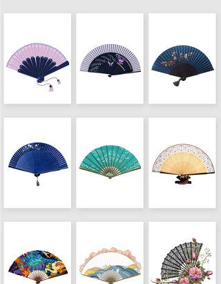 中国风手持扇子装饰素材