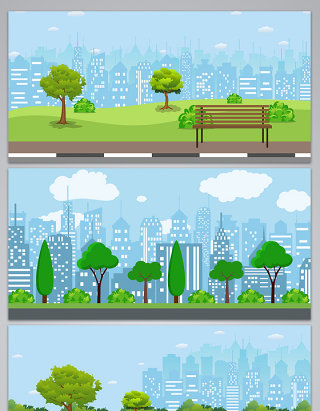 矢量城市风光素材背景