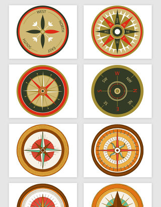 航海指南针仪器矢量素材