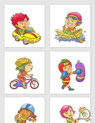 卡通儿童体育运动素材