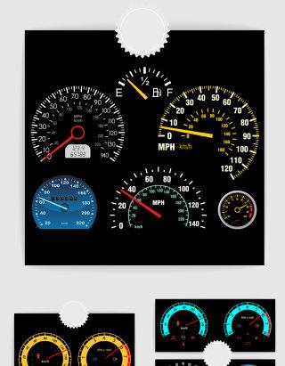 汽车仪表盘扇形表盘设计元素
