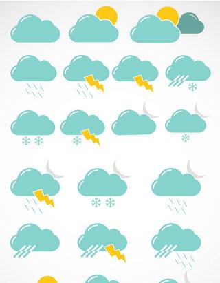 云朵UI创意天气图标