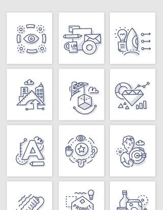 不规则图形品牌营销图标素材