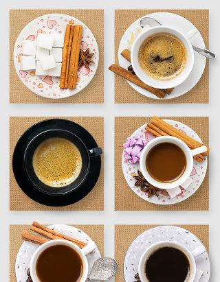 咖啡下午茶杯具高清psd样机素材