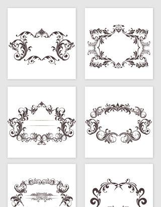 欧式复古花纹边框设计素材