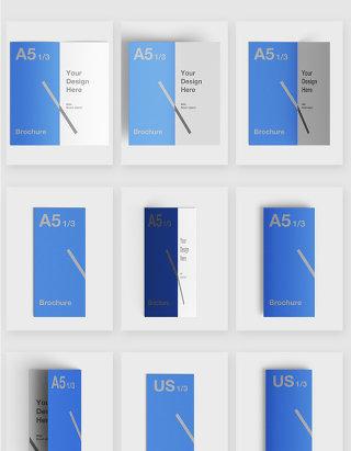 手册纸质印刷智能贴图样机素材