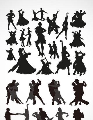 舞蹈人物剪影素材