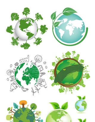 绿色生态爱护地球素材