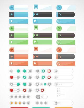 精美网页u功能图标按钮素材