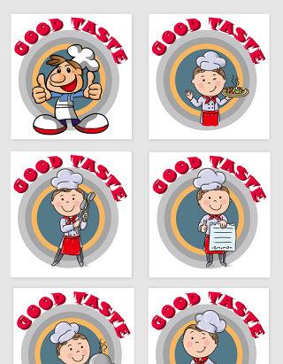 创意手绘卡通厨师图片