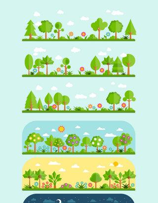 矢量树木设计元素