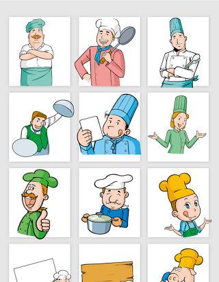 卡通人物厨师素材