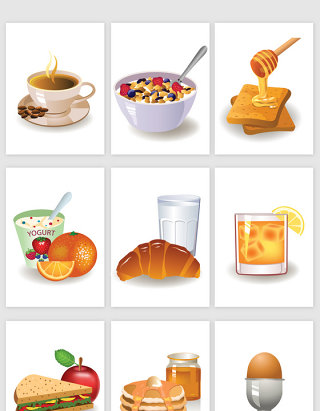 营养早餐矢量素材