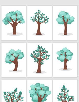 唯美手绘树木设计素材