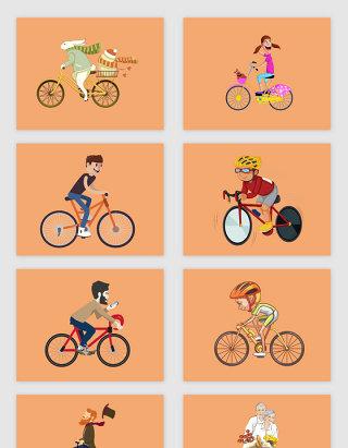 运动素材骑自行车