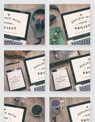 笔记本电脑IPad智能贴图样机素材