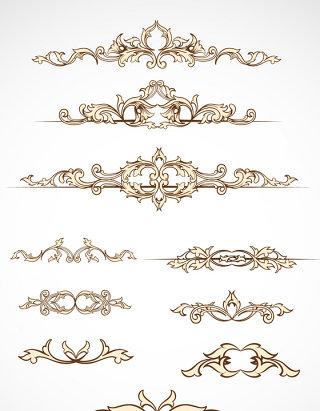 传统经典欧式花纹矢量图