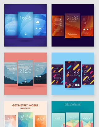 智能手机屏幕壁纸设计素材