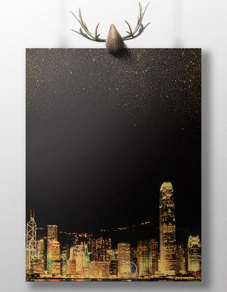 金色建筑房地产海报背景